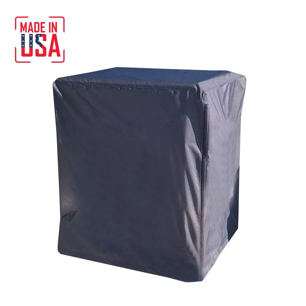BEST Air Conditioning Protective Cover Made in USA. Extra Heavy-Duty Fabric is UV/Mold/Mildew/Water Resistant. Perfect for Outdoor Use. 5 Year Warranty. (Grey, 40''Lx40''Wx40''H)
