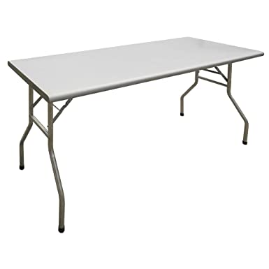 HUBERT Folding Table Rectangular – 72 L x 30 W x 30 7 8 H