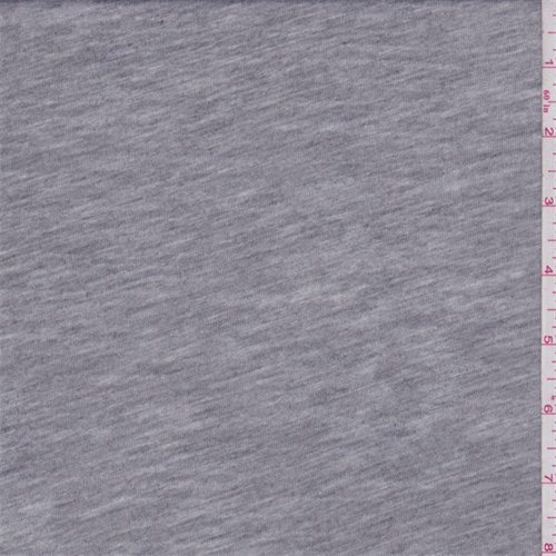 Burnout Fabric - Heather Grey Burn Out T-Shirt Knit, Fabric by The Yard
