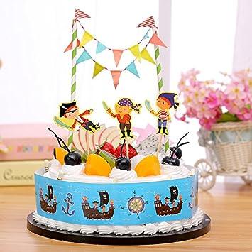 Amazon Com Gift Prod 2 Pcs Mini Happy Birthday Cake Bunting Banner