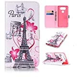 Phone Cases LG V20,Premium LG V20 Case With Kickstand Credit Card Slot ID Holder Magnetic Closure Fiolo Flip Wallet Cover Impact Resistant Protective Hidden Leather Wallet Case for LG V20-Eiffel Tower