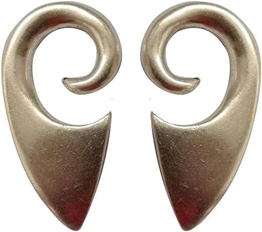 Pesos de oreja de pareja plateados plata para lóbulos estirados ...