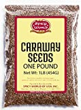 Caraway Seeds Whole 1 Pound (16 ounce Bulk) - by Spicy World - Perfect for Rye Bread, Sauerkraut, and European Cooking