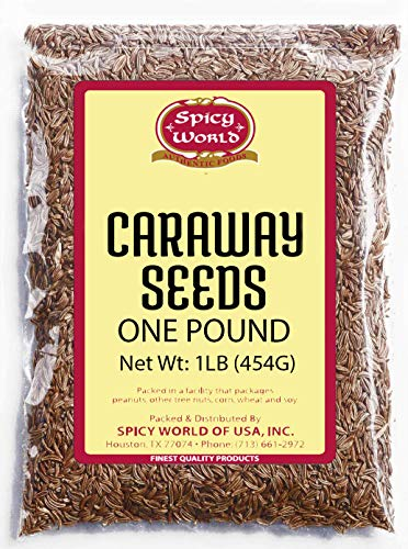 - Caraway Seeds Whole 1 Pound (16 ounce Bulk) - by Spicy World - Perfect for Rye Bread, Sauerkraut, and European Cooking