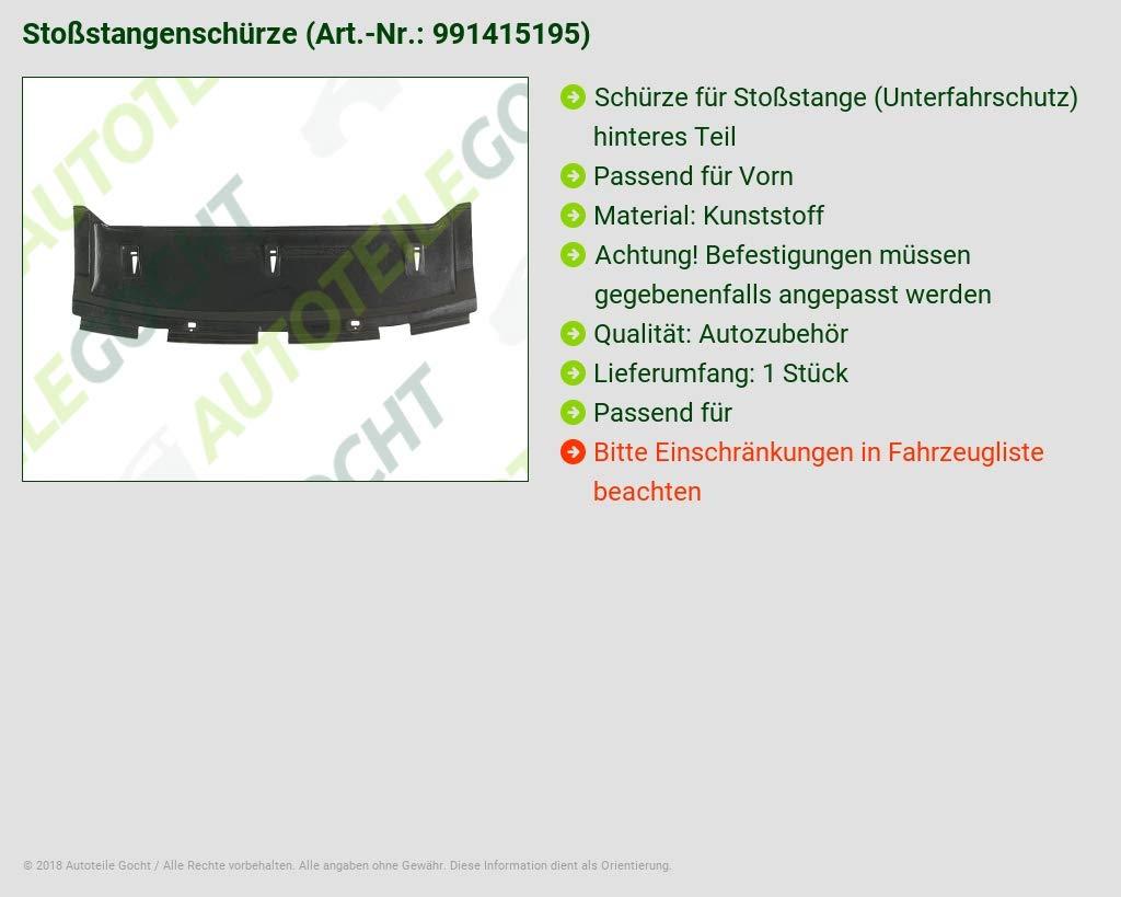 Unterfahrschutz Sto/ßstange