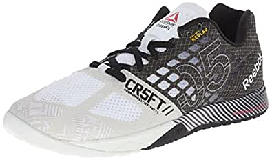 Reebok Men's R Crossfit Nano 5.0 Training Shoe, Polar Blue/Black/Neon Cherry/Flat Grey, 10.5 M US