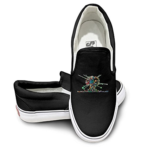[NF18G Suicide Squad Family Customized Casual Sneaker Size40 Black] (John Paul Jones Costumes)