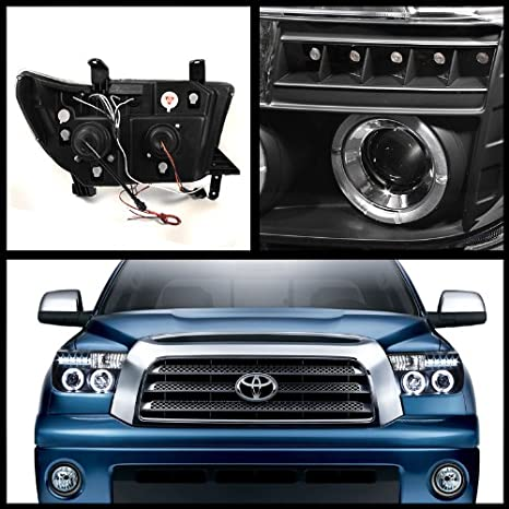 Amazon.com: Rxmotoring 2007-2011 Toyota Tundra Headlights Projector + Tail Light: Automotive