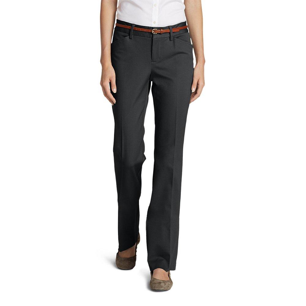 Eddie Bauer Women's StayShape Twill Trousers - Slightly Curvy, Graphite Petite 8