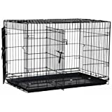 Precision Pet Two-Door Great Crate, Black