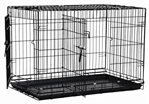 Precision Pet Two-Door Great Crate, Medium Large - 36x23x25 inches