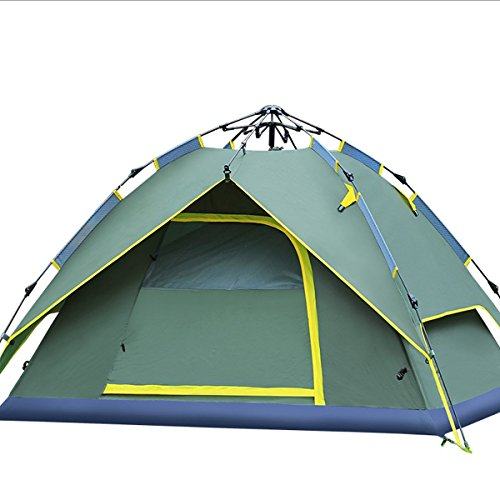 Hydraulic-Canopy-Tent-for-Camping-Automatic-Waterproof-Hydraulic-Tents-3-4-Person-Canopy-Easy-to-Set-up-and-package-Green-By-Qisan