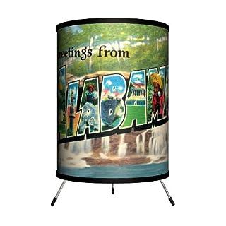 "Lamp-In-A-Box TRI-TRV-ALABA Travel - Alabama Postcard Tripod Lamp, 14"" x 8"" x 8"""