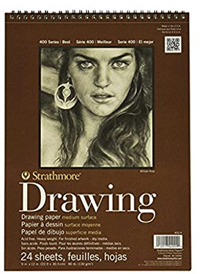 Strathmore - 9 x 12 Drawing Pads - Bundle of 3 - 24 Sheets Each