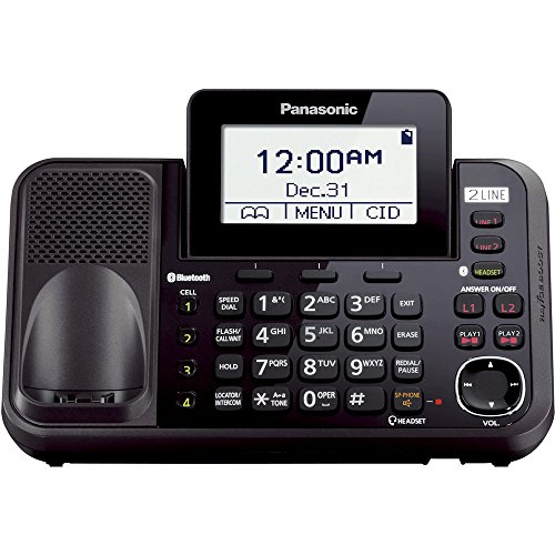 cordless 2 line phone with answering machine