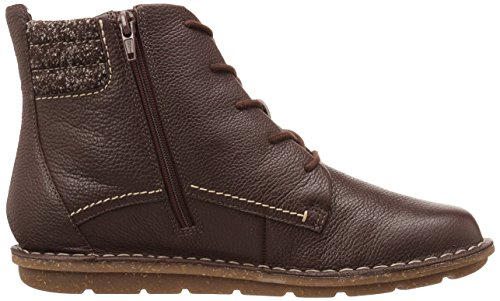 Clarks Womens Tamitha Rose Boot, Dark Brown Leather, 6.5 W US