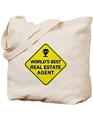 CafePress - Real Estate Agent - Natural Canvas Tote Bag, Cloth Shopping Bag