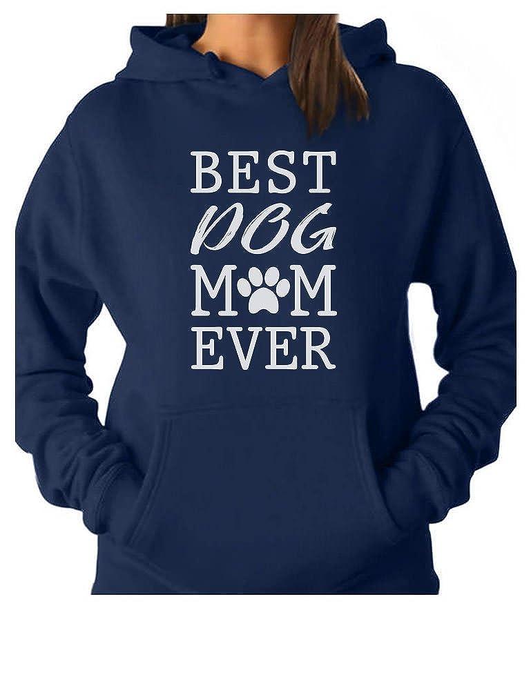 Tstars Best Dog Mom Ever Gift for Dog Lover Women Hoodie
