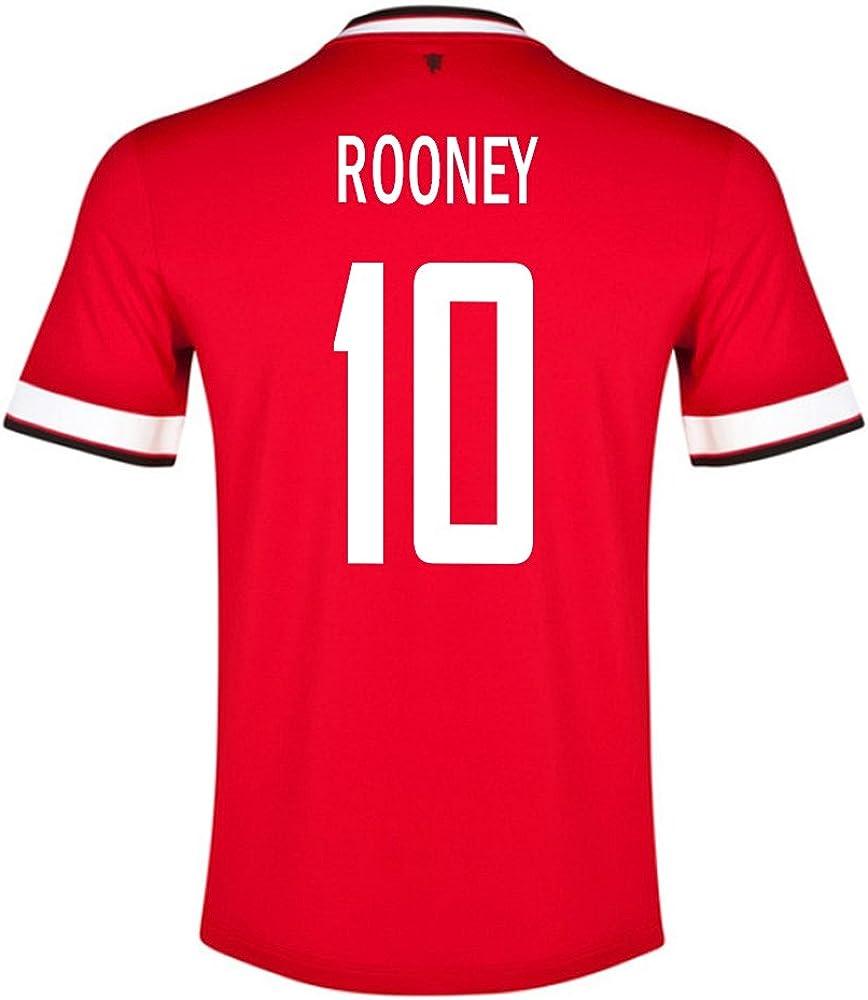 Rooney # 10 MANCHESTER UNITED HOME Men Soccer Jersey