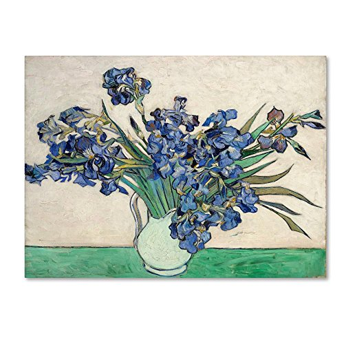 - Irises In A Vase by Van Gogh, 18x24-Inch Canvas Wall Art