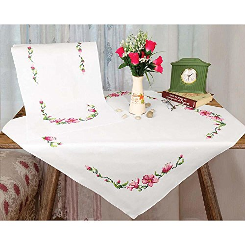 Herrschners® Cherry Blossom Table Runner Stamped Cross-Stit