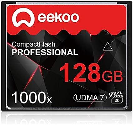 ZHU Tarjeta de Memoria For cámara DSLR 128GB 1000X UDMA7 Compact ...
