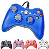 xbox 360 remote - FiveStar USB Wired Game Pad Controller for Xbox 360, Windows 7 (X86), Windows 8 (X86) - Blue