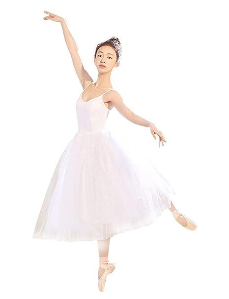 fe118758ca besbomig Vestidos de Danza Ballet Mujer Vestidos de Baile Clásico - Disfraz  Princesa Lago de Cisnes Tutú Vestido Leotardo Gimnasia Fiesta Actuación Ropa   ...