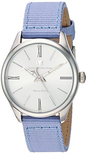 Technomarine Women's 'MoonSun' Quartz Stainless Steel and Nylon Casual Watch, Color:Purple (Model: TM-117011)
