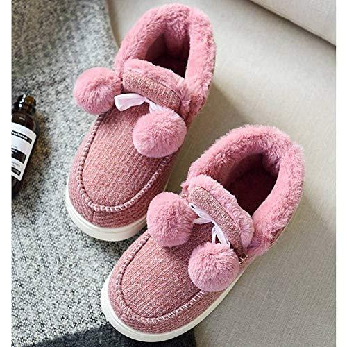 Red Wine Shoes Fuzzy Women's Warm Boots Indoor Outdoor Faux BUYITNOW Slipper Fleece TqRwzPz7