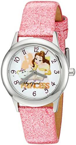 Disney The Princess & The Frog Kids' W002922 Beauty and Beast Analog Display Analog Quartz Pink Watch