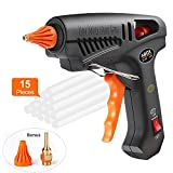 Hot Glue Gun, ABOX 60W Thermostat Hot Melt Glue Gun, Rapid Preheating with PTC Heating Technology,15 Pcs Premium Glue Sticks,Copper Nozzle and ON-Off Switch, DIY Arts &Crafts Projects, Quick Repairs