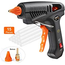 Hot Glue Gun, ABOX 60W Mini Heavy Duty Heating Hot Melt Glue Gun with 15pcs Melt Glue Sticks, Ideal for School DIY Arts and Crafts Projects, Home Quick Repairs