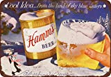 """1956 Hamm's Beer and Winter 10"""" x 7"""" Vintage Look Reproduction Metal Sign"""