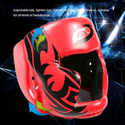 Timagebreze Sombrereria Buena Negra Guardia de Cabeza Casco de Entrenamiento Equipo de Proteccion del Boxeo Patada