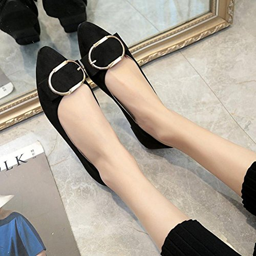 e75344731f64 Women Flat Shoes Office Boat Shoes Low Heel Working Sandals Shoes Hemlock ( US 8.5