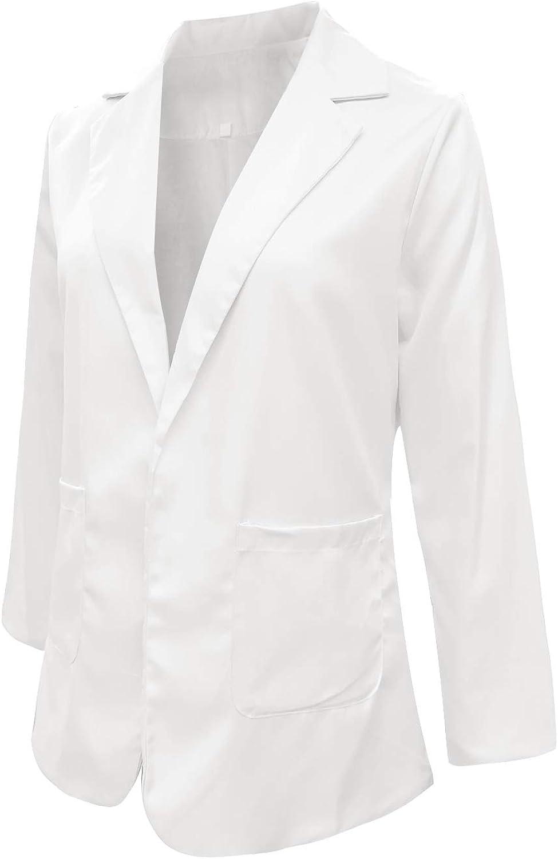 MINTLIMIT Damen Blazer Cardigan D/ünn Geraffte /Ärmel Elegant Bolero Business Jacke Blazer Slim Fit Anzug Trenchcoat Sakko Einfarbig