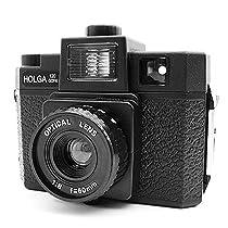 Holga 120 GCFN Medium Format Film Plastic Camera Glass Lens Flash Lomo Black