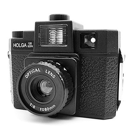 Holga 120 GCFN Medium Format Film Plastic Camera Glass Lens Flash Lomo Black