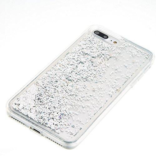 "TOCASO Silicona Suave Funda Ultra Delgado para iPhone 7 Plus / 8 Plus 5.5"" Case Funda Carcasa Case Bumper [Anti-Arañazos] Flexible Piel Resistente Slim fit Silicona Ultra suave Case líquido de silicon Silver"