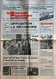 NOUVELLE REPUBLIQUE (LA) [No 12567] du 05/02/1986 - ENCORE UNE VIEILLE DAME ASSASSINEE A PARIS - PLAN ORSEC MAINTENU DANS L'AUDE - L'ARDECHE - L'ARIEGE E LES PYRENEES-ORIENTALES - ARTISANS SANS FRONTIERES POUR LE CONTINENT AFRICAIN - OPPOSITION / LA DECHIRURE - L'UNION ET L'HOMME SEUL PAR TARIBO - HAITI / DUVALIER DANS LA FOULE - QUAND ISRAEL FAIT DONNER LA CHASSE AUX TERRORISTES - LE MOSSAD RATE SON INTERCEPTION - NOUVEL ATTENTAT EN PLEIN PARIS