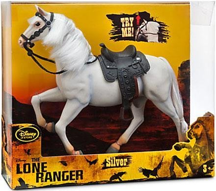 "Disney The Lone Ranger - Silver the horse Action Figure with sound - 11"" Tall"