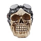 MonkeyJack 3D Skeleton Skull & Steampunk Glasses Model Head Bone Ornament Night Party Pub Bar Decorative Figurine Craft