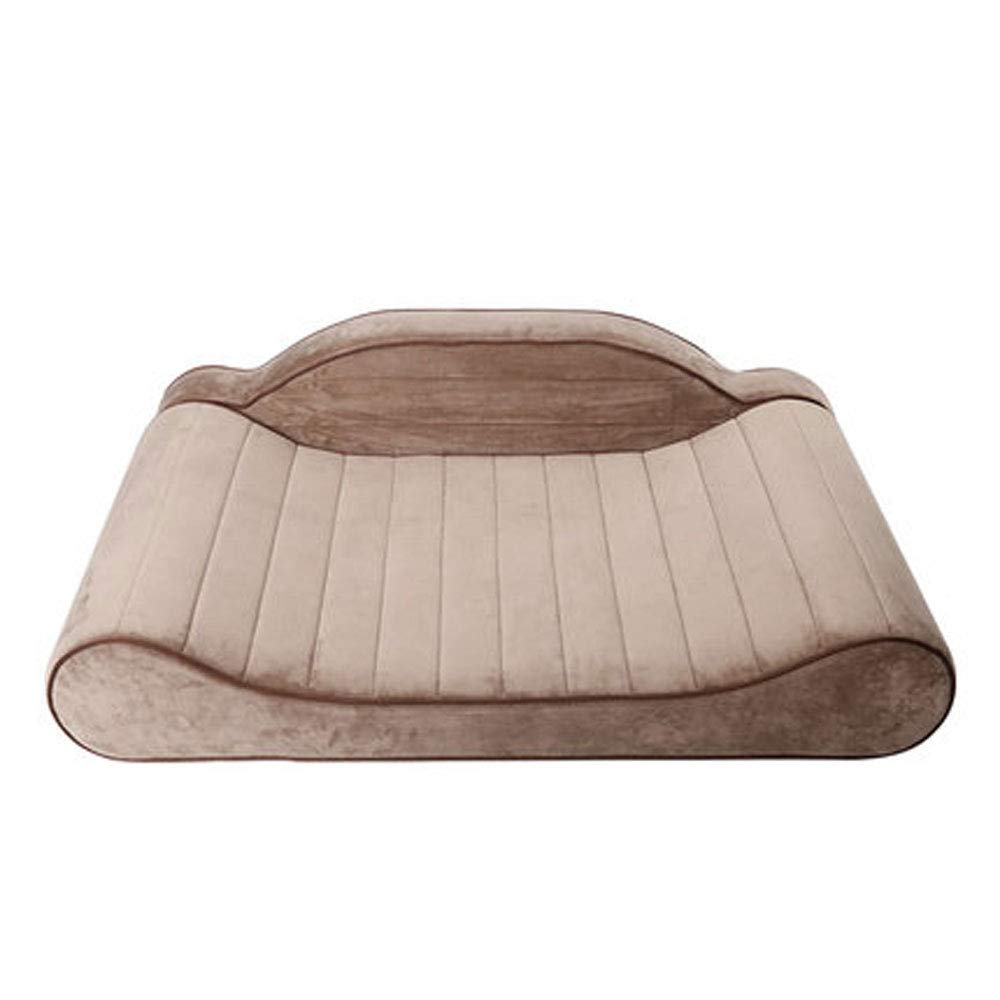 BROWN Teng Peng Pet Dog Bed-Dog Plush Mattress Pet Bed for Dogs & Cats-Pet Products Sofa-Style Couch Pet Bed Dog Lounge w Solid Memory Foam Soft sleeping pad (color   BROWN)