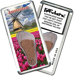 "product image for Amsterdam ""FootWhere"" Souvenir Fridge Magnet (AM205 - Windmill)"