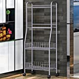 Vanpower 4 Tier Kitchen Rack Storage Stand Organizer Cart With Wheel Trolley Shelf