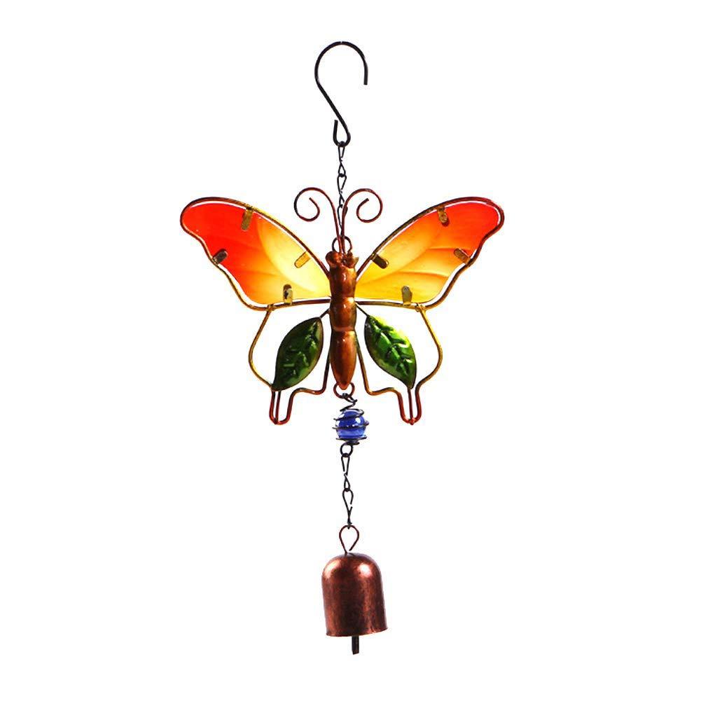 decorazione per la casa e lesterno MQUPIN Scacciaspiriti a forma di farfalla con 4 tubi in alluminio e gancio a S idea regalo per la mamma regalo per la festa del Ringraziamento
