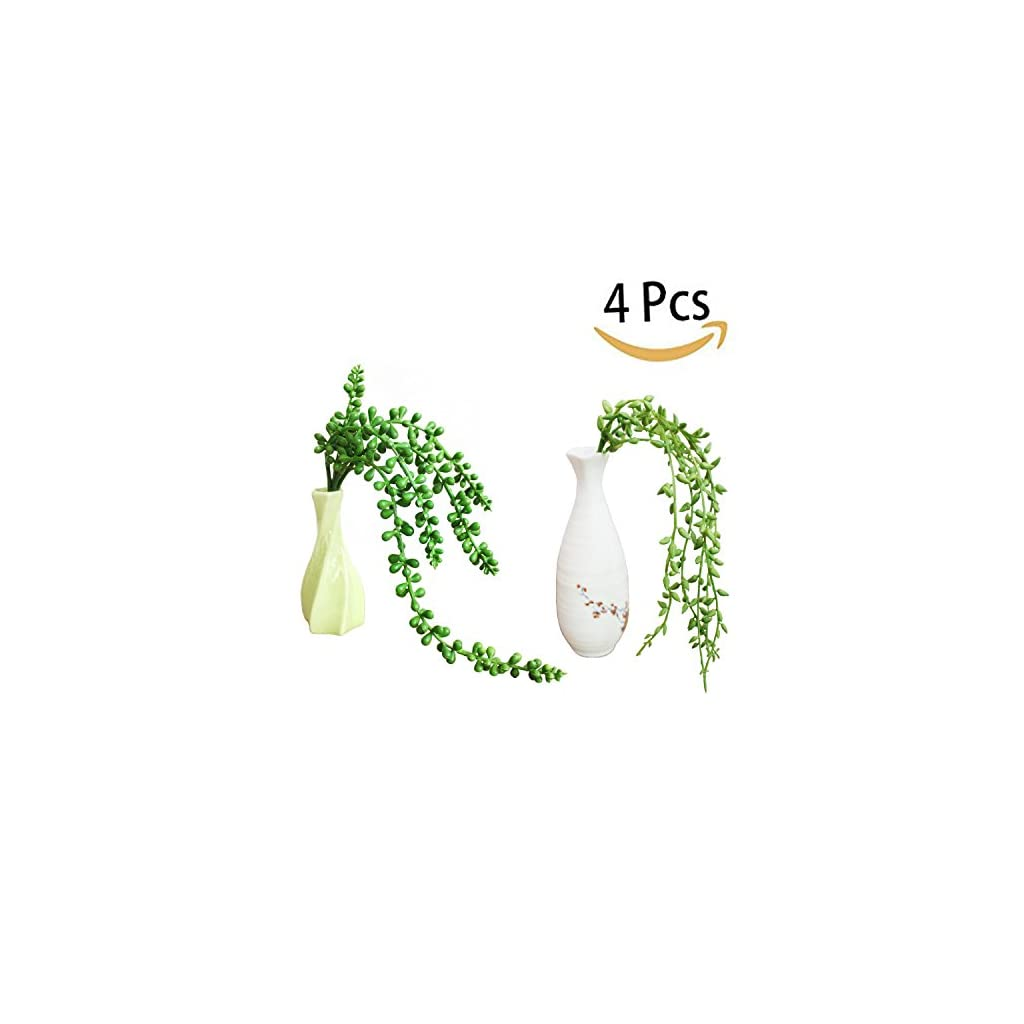 BONANA-4-Pcs-Artificial-Succulent-Plants-157-inch-Lover-Tears-Hanging-Basketplant-Plants-String-of-Pearls-Fake-succulent-for-Home-Kitchen-Office-Garden-Wedding-Decor