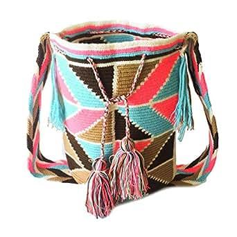 Wayuu handmade crossbody bag for women - FROST