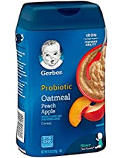 Gerber Baby Cereal Probiotic Oatmeal & Peach Apple Baby Cereal
